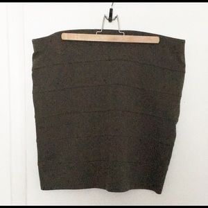 Dark green bandage skirt